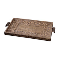 Uttermost Camillus Tray Home Accessory in Light Antique Stain 19494