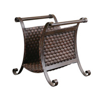 Uttermost Brunella Magazine Holder Home Accessory in Dark Mocha Brown 19543