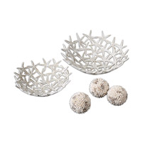 Uttermost 19557 Starfish Antique White Bowls Bowls with Spheres thumb
