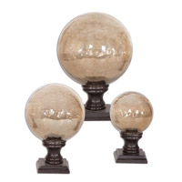 Uttermost Lamya Finials Set of 3 Home Accessory in Antiqued Bronze Metal 19563