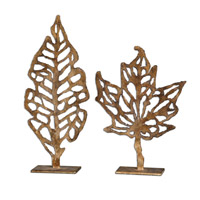 Hazuki Distressed Gold Leaf Home Accessory