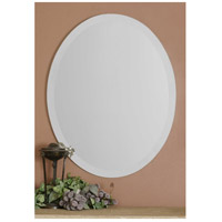 Uttermost Large Oval Mirror in Frameless Beveled Oval 19590-B