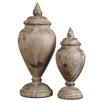 Uttermost Brisco Set of 2 Finials in Natural Wood Tones 19613
