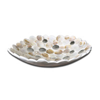 Uttermost Capiz Bowl in Matte White 19617