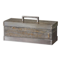 Uttermost 19669 Lican 18 inch Light Chestnut Stain Box
