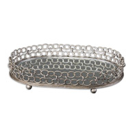 Uttermost Lieven Tray in Silver Champagne 19670