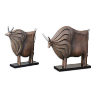 Uttermost American Bison Decorative Accessories in Chestnut Brown 19672