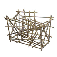 Uttermost 19683 Nest Gold Leaf Magazine Holder thumb