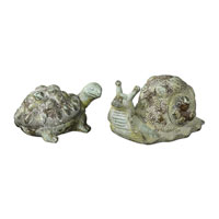 Uttermost 19706 Tortoise And Snail Crackled Green Decorative Accents thumb