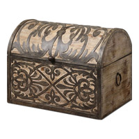 Uttermost 19709 Abelardo Lightly Stained Rustic Wood Box