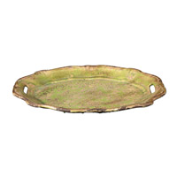 Uttermost Gian Tray in Distressed Crackled Green 19712