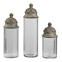 Uttermost Acorn Containers Set of 3 in Tan Glaze 19714