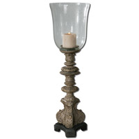 Uttermost Nerio Candleholder in Distressed Rust Gray Wash 19720