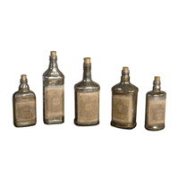 Uttermost Recycled Set of 5 Bottles 19754