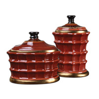 Brianna Caramelized Red Canister