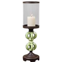 Uttermost Civita Candleholder in Crackled Green 19765