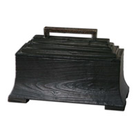 Uttermost Carino Box in Black Satin 19767