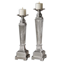 Uttermost Canino Candleholder Set of 2 in Mercury Glass 19769