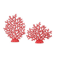 Uttermost Red Coral Set of 2 Sculptures 19801