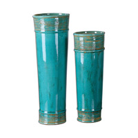 Uttermost Thane Set of 2 Vases in Teal Green 19835