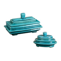 Uttermost Indra Set of 2 Boxes in Bright Blue 19836