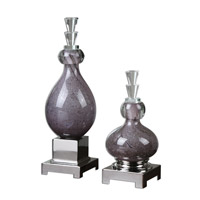 Uttermost Charoite Set of 2 Bottles in Purple 19842