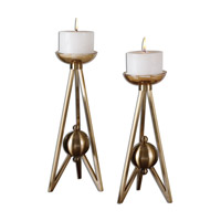Uttermost Andar Set of 2 Candleholders in Bronze 19845