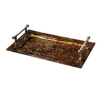 Uttermost Elektra Glass Tray in Copper 19858