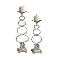 Uttermost Parson Set of 2 Candleholders in Silver 19859