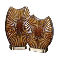 Uttermost Zarina Set of 2 Vases in Marble 19867