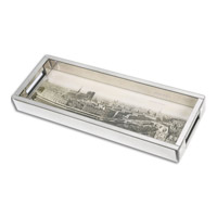 Panorama De Paris Mirrored Tray