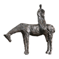 Side Saddle Cast Iron Sculpture
