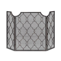 Charlie Antique Silver Champagne Fireplace Screen