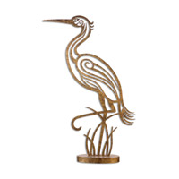 Uttermost 19937 Perched Egret 43 X 26 inch Sculpture thumb