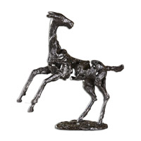 Rearing Horse Aged Iron Sculpture