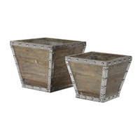 Uttermost 20027 Birtle Reclaimed Fir Wood Containers