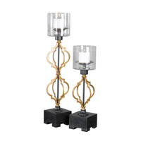 Uttermost Gilberto Candleholders in Soft Gold 20099