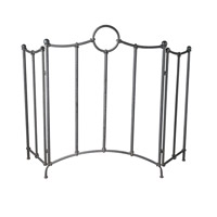 Uttermost Aditya Fireplace Screen in Textured Iron 20102