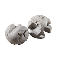 Uttermost Ermanno Teak Balls in Pale Gray 20107