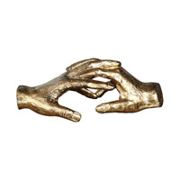 Uttermost Hold My Hand Sculpture in Antiqued Gold 20121