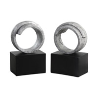 Twist 10 X 4 inch Metallic Silver Bookends, Set of 2