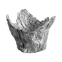 Uttermost Massimo Bowl in Wood Textured Silver 20149