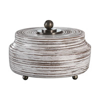 Uttermost 20157 Saltillo White Ceramic Decorative Container