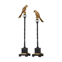 Uttermost Perched Finials in Gold 20163