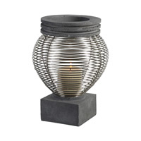 Fausto Light Charcoal/Silver Candleholder