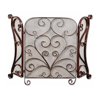 Uttermost Daymeion Fireplace Screen Home Accessory in Lightly Distressed Cocoa Brown 20278