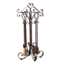 Uttermost Daymeion Fireplace Tools Set of 5 Home Accessory in Lightly Distressed Cocoa Brown 20338