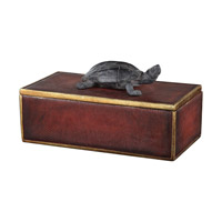 Neagan 11 inch Chestnut Brown Decorative Box, Grace Feyock