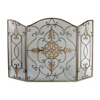 Uttermost Egan Fireplace Screen Home Accessory in Dark Brown 20508