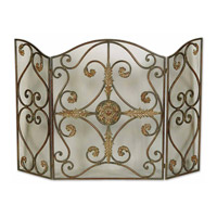 Uttermost Jerrica Fireplace Screen Home Accessory in Light Brown And Mahogany Undercoats 20536